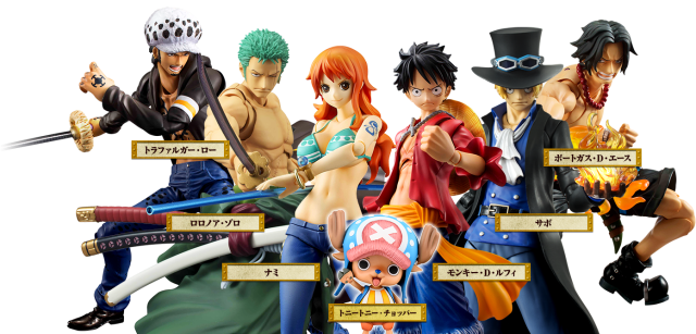 One Piece Variable Action Heroes Figures Lineup