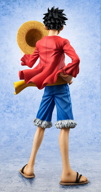 MegaHouse One Piece Portrait of Pirates Monkey D. Luffy Version 2 Figure Back