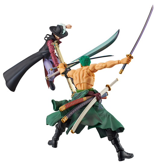 One Piece Variable Action Heroes Mihawk vs. Zoro