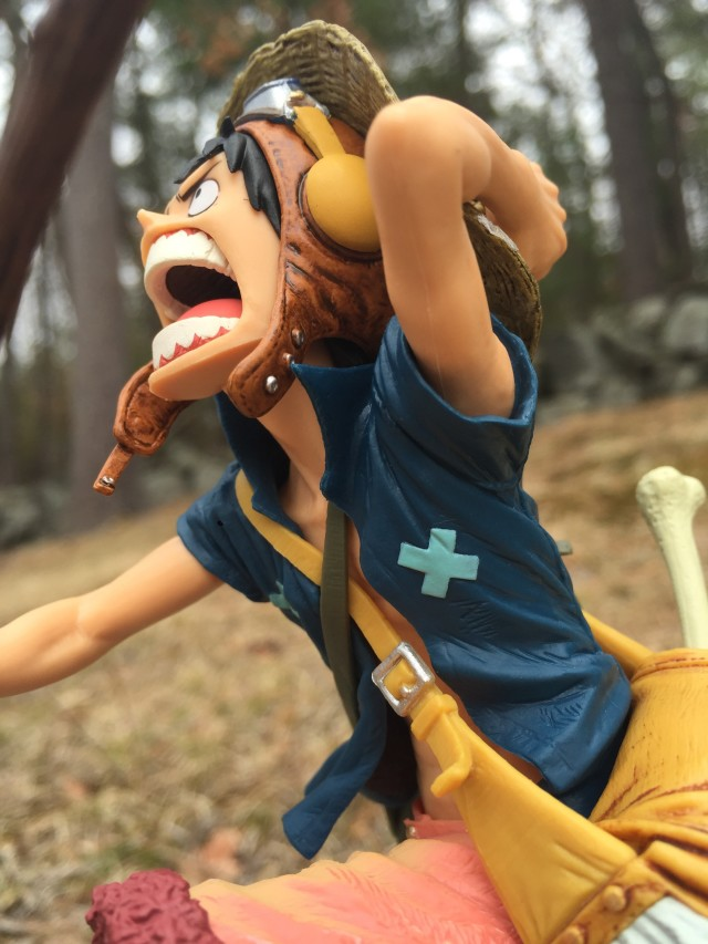Close-Up of Banpresto SCultures One Piece Strong World Luffy