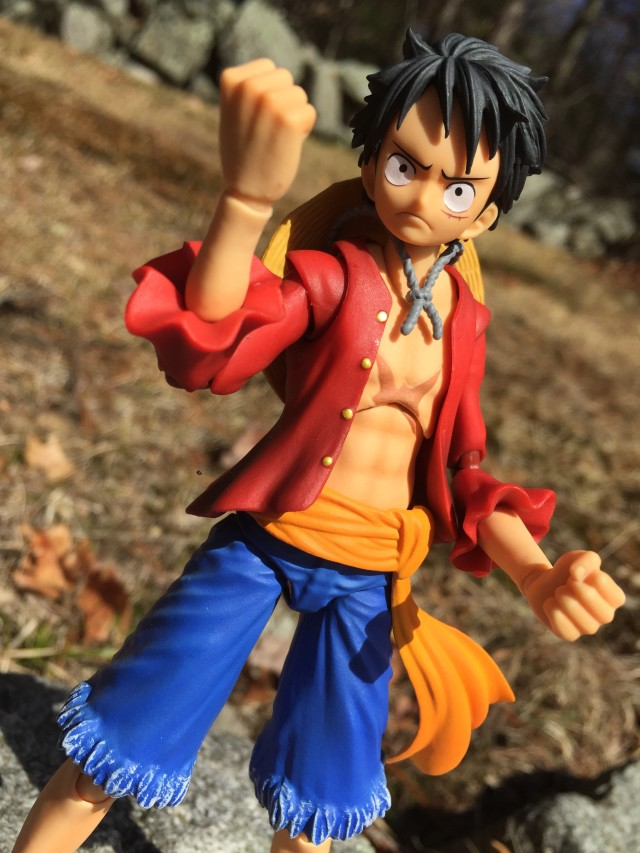 Close-Up of Variable Action Heroes Luffy Figure