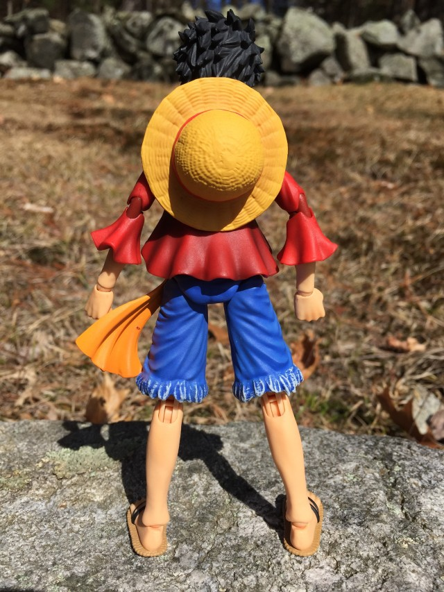 Back of Variable Action Heroes Luffy PVC Figure