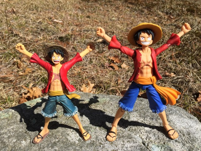 Comparison of Monkey D. Luffy Figuarts Zero and Variable Action Heroes Figures