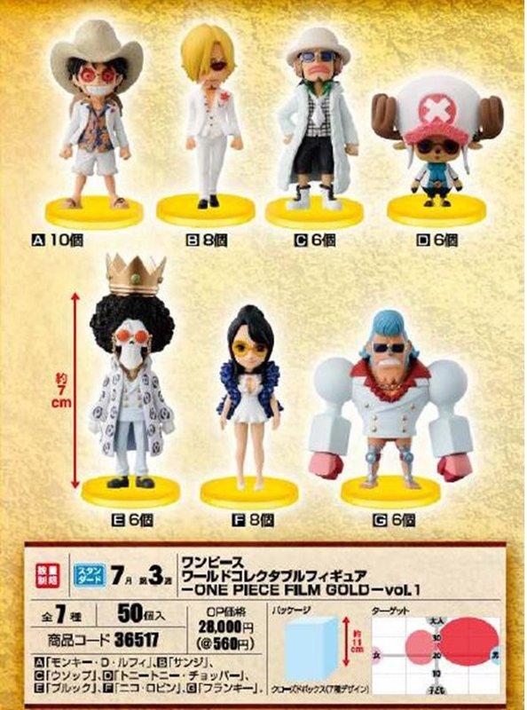 One Piece Film Gold WCF Figures Vol 1 White Outfits
