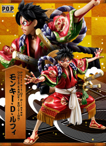 One Piece POP Kabuki Luffy Figure Poster