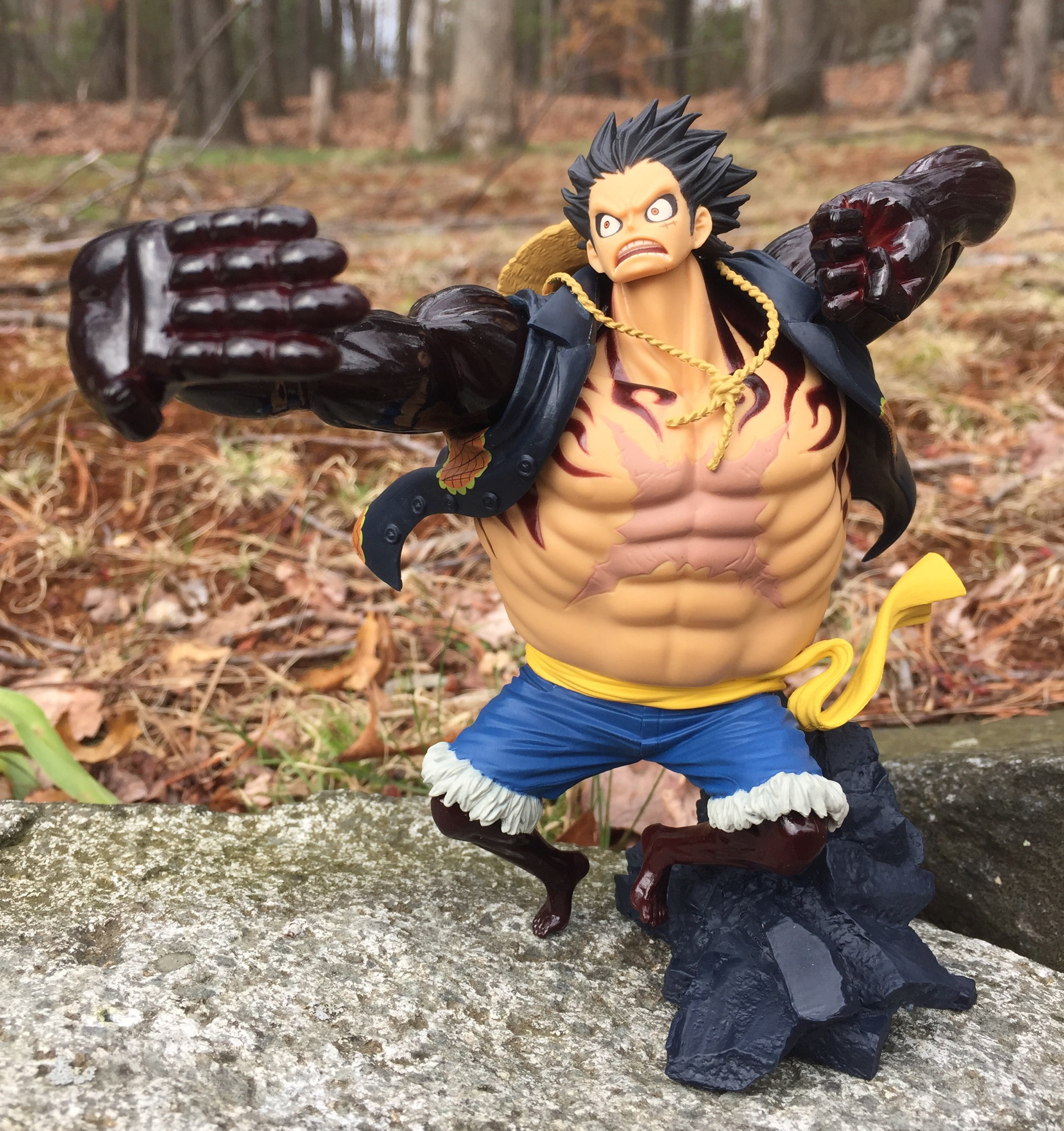 one piece scultures fourth gear luffy figure review one piece z